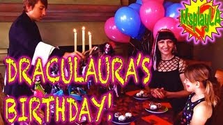 Draculaura Celebrates her Birthday! Monster High Dolls and Dress Up Games on MsPlayLA