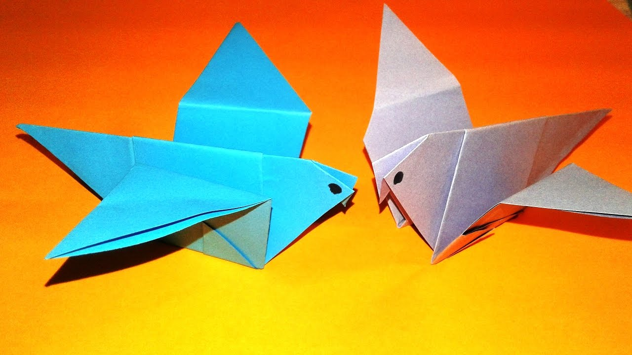 How to make a Paper bird? (Easy origami) - YouTube | Origami bird ... | 720x1280