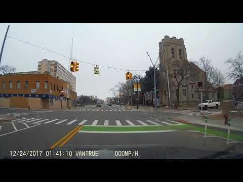 Cass Avenue.  Detroit Michigan.  Cass Corridor.