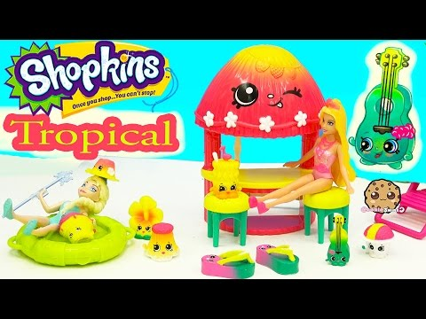 Shopkins Tropical Collection Playset Season 4 Exclusive Set - Cookieswirlc Unboxing Video
