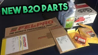 Unboxing New Parts For The JDM B20!!
