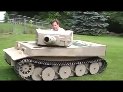 Selfmade Tank Lawn Mower Panzer Rasenm 228 Her D Youtube