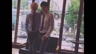 2016年7月13日のユナクとソンジェ☆ 韓国ミュージカル『インタビュー』撮...
