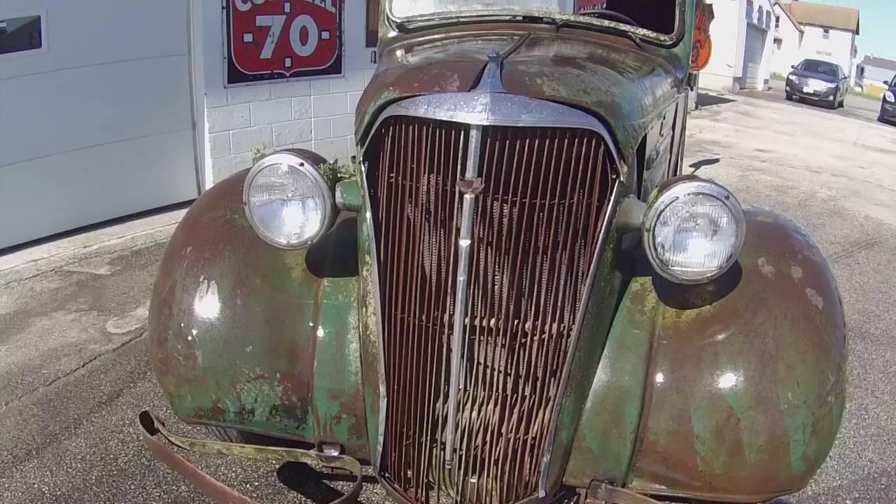 1937 Chevy pick up truck 1/2 ton rat rod hot rod patina Barnfind ...