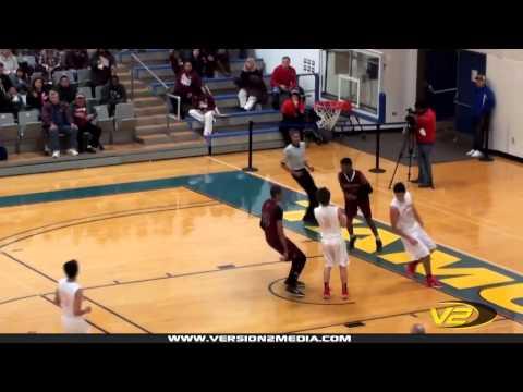 Aaron Dilworth steal & dunk (Flour Bluff Basketball)