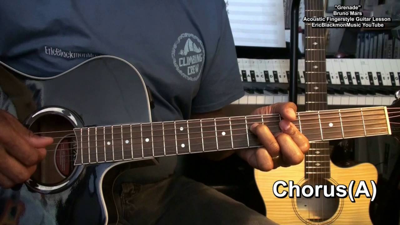 how to play grenade on guitar