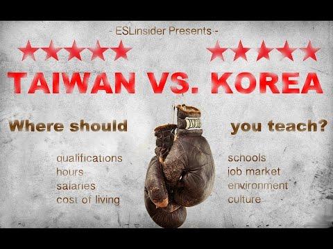 Taiwan vs. Korea - Where should you teach English?