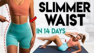 постер к видео SLIMMER WAIST in 14 Days (lose belly fat) | 15 min Home Workout
