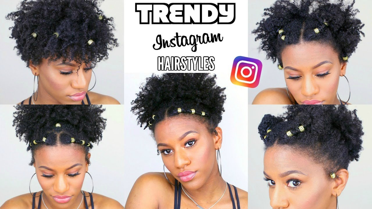 recreating cute natural hairstyles that are trending on instagram!