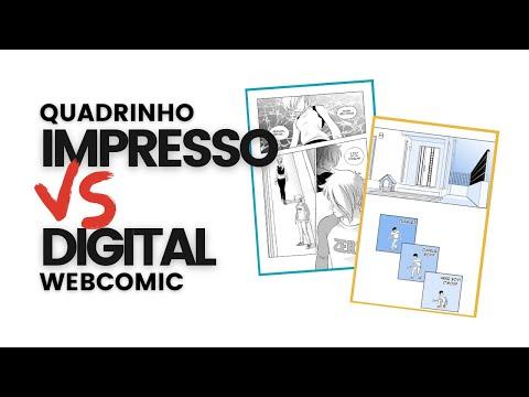 Quadrinho impresso vs digital webcomic