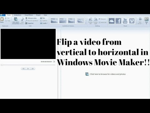 How To Flip A Video From Vertical To Horizontal In Windows Movie Maker!!