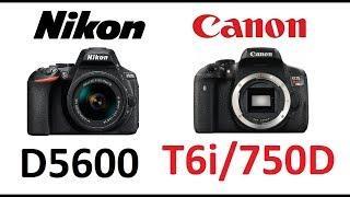 Nikon D5600 VS Canon 750D (Rebel T6i ) مقارنه بين نيكون وكانون