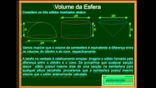 Matemática - Aula 72 - Geometria Espacial Métrica - Esfera e Partes - Parte 1