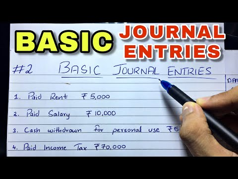 Basic Journal Entries by Saheb Academy - Class 11 / B.COM / CA Foundation