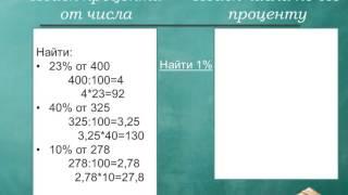 Задания на проценты, 5 класс