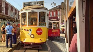 Riding Lisbon's Tram 28 in Summer - Portugal