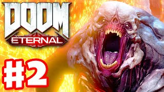 DOOM Eternal - Gameplay Walkthrough Part 2 - Exultia! Campaign! (PC)