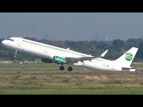 Germania operations at Düsseldorf Airport || D-ABLA || D-ASTE || D-ASTV || D-ASTW