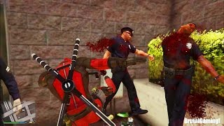 GTA 5 BRUTAL KILL COMPILATION (Grand Theft Auto V Walk with DEADPOOL/Funny/Thug life)