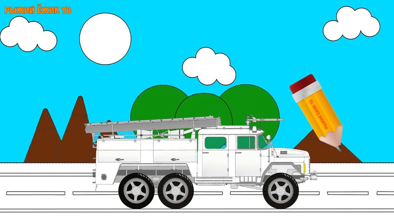 Para colorear de dibujos animados de camiones de bomberos del coche ...