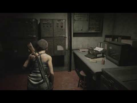 Resident Evil 3 - Sewers: Sewer Manager's Safe Room: Red Herb, Handgun Ammo, Shotgun Shells (2020)