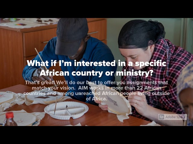 AIM - FAQ's about Africa Inland Mission