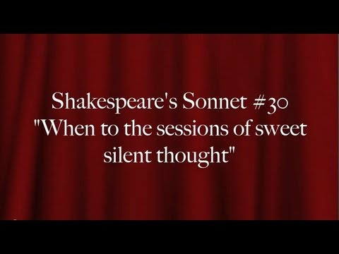 short copy and analysis of sonnet