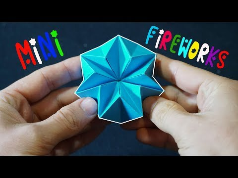 How to Make Mini Origami Fireworks (Transforming Star Spins Forever!)