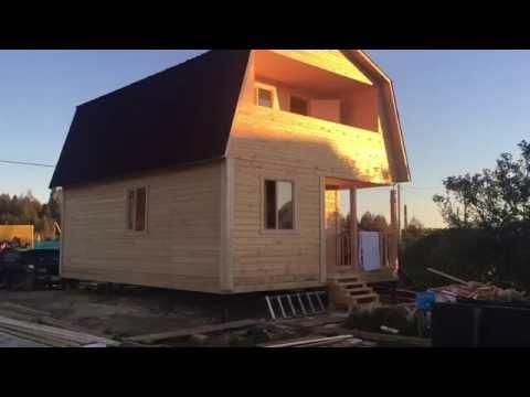 Дом из бруса 6х8 с террасой и балконом - СК Мечта