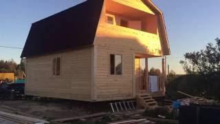 видео Дом из бруса с балконом и террасой