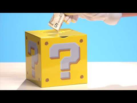 Super Mario Money Box: Coin bank with authentic sound effects