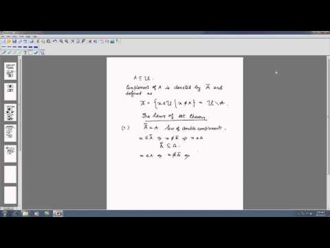 Mod-01 Lec-02 Set operation and laws of set operation