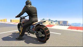 GTA 5 Cunning Stunts Pt2 Online w/Crew  -New Gargoyle Bike!