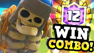 4 STRAIGHT 12 WINS w/ Graveyard Giant Skeleton Deck! :: Clash Royale