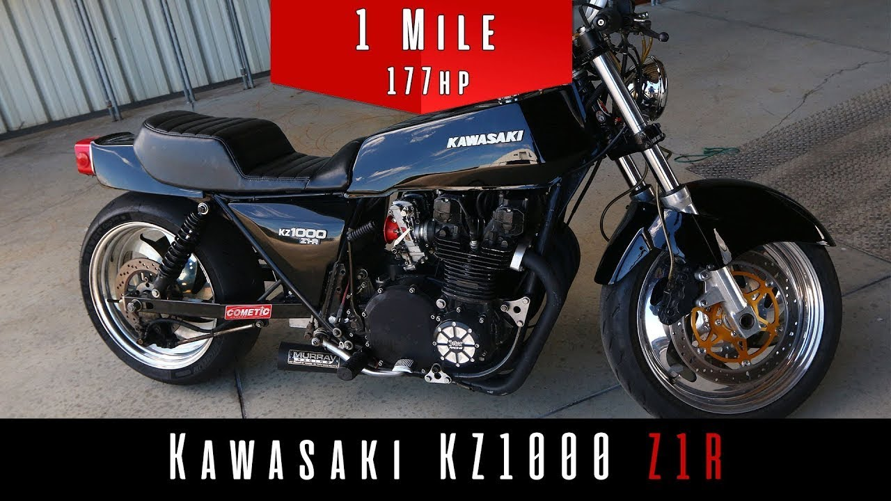 1978 Kawasaki Kz1000 Z1r Top Speed Test Modified Youtube