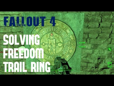 Fallout 4 - Solving Freedom Trail Ring - Gameplay Walkthrough