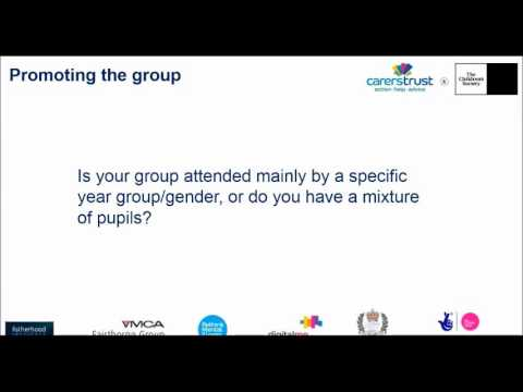 Carers Trust and The Children's Society: YCiS - Running a school peer support group for young carers
