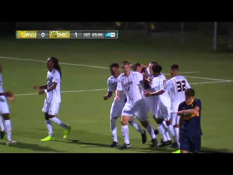 UMBC Men's Soccer vs West Virginia Highlights 9/13/17
