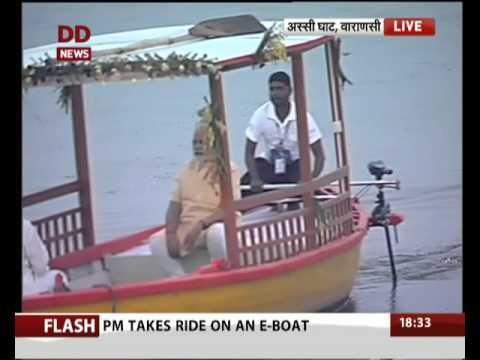 PM Modi launches E-Boat service at Assi Ghat, Varanasi