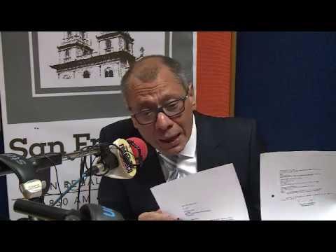 ENTREVISTA AL VICEPRESIDENTE CONSTITUCIONAL, JORGE GLAS EN RADIO SAN FRANCISCO - GUAYAQUIL