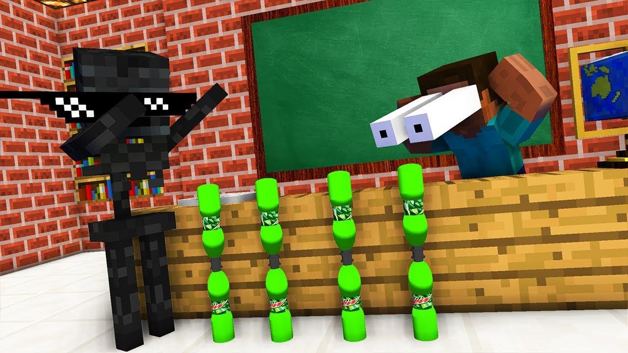 Download Monster School : BOTTLE FLIP Challenge - Minecraft Animation