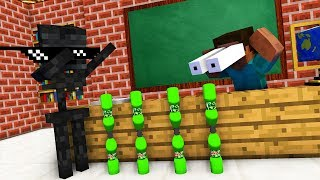 Download lagu Monster School : BOTTLE FLIP Challenge - Minecraft Animation