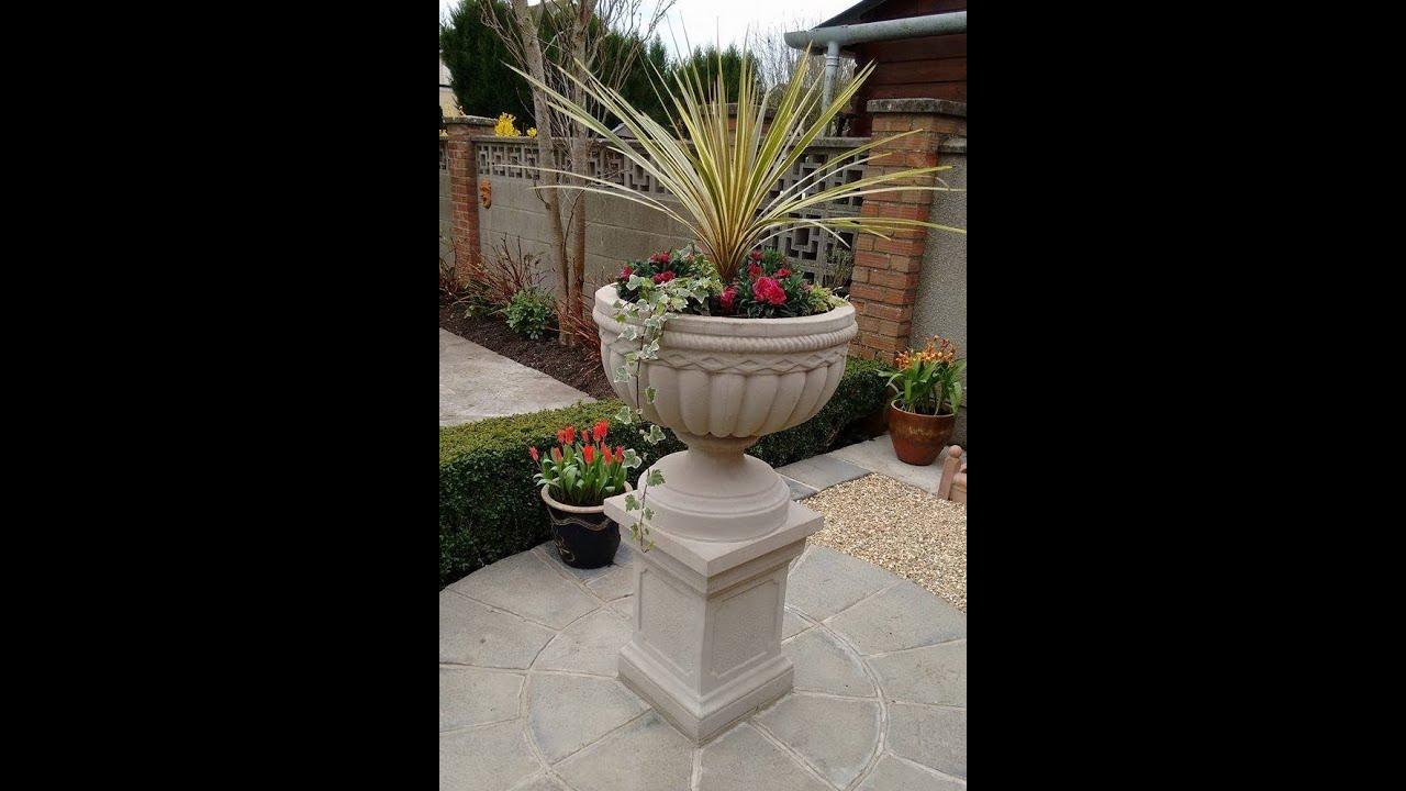 Classic Stone Garden Planters.