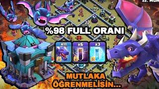TH13 Ejderha + Yarasa Saldırısı l +6000 Kupa Ordusu l Püf Noktalarıyla Anlatım l Clash of Clans