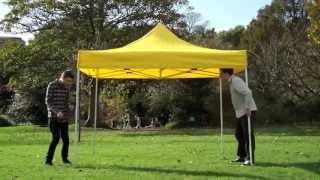 Видео-обзор установки быстросборного шатра