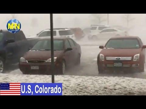 Fuerte granizada impacta en Colorado, EEUU | 08-05-2017