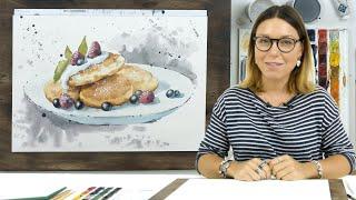 Экспресс-урок по акварельной живописи «Сырники»