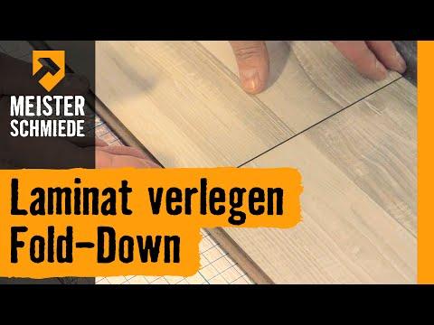 Laminat verlegen Fold-Down | HORNBACH Meisterschmiede