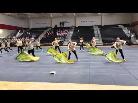 """Clark HS Winterguard- WGI Regionals 2016 """"Breezeblocks"""""""