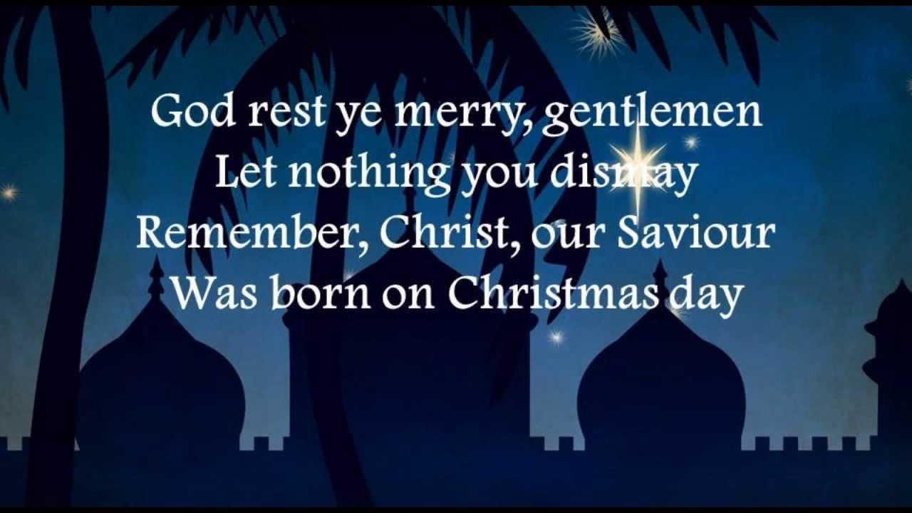God Rest Ye Merry Gentlemen with lyrics christian Rock band like ...